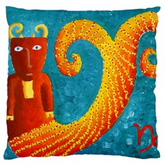 Capricorn Zodiac Sign Large Flano Cushion Cases (Two Sides)