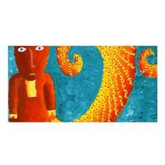 Capricorn Zodiac Sign Satin Shawl