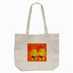 Gemini Zodiac Sign Tote Bag (Cream)