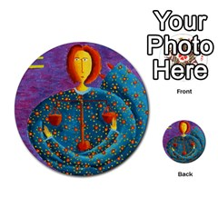 Libra Zodiac Sign Multi Purpose Cards (round)