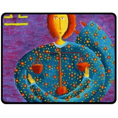 Libra Zodiac Sign Fleece Blanket (Medium)