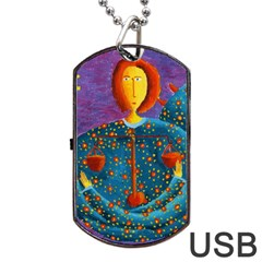 Libra Zodiac Sign Dog Tag USB Flash (Two Sides)