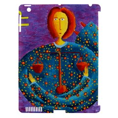 Libra Zodiac Sign Apple iPad 3/4 Hardshell Case (Compatible with Smart Cover)