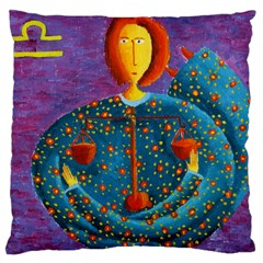Libra Zodiac Sign Large Cushion Cases (One Side)