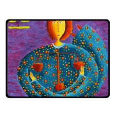Libra Zodiac Sign Double Sided Fleece Blanket (Small)