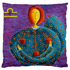 Libra Zodiac Sign Large Flano Cushion Cases (Two Sides)