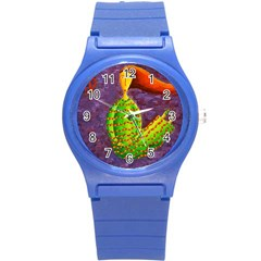 Virgo Zodiac Sign Round Plastic Sport Watch (S)