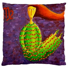 Virgo Zodiac Sign Large Cushion Cases (Two Sides)