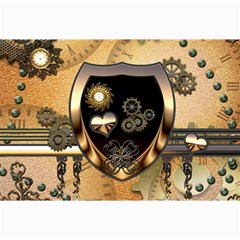 Steampunk, Shield With Hearts Collage 12  X 18