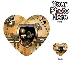 Steampunk, Shield With Hearts Playing Cards 54 (Heart)