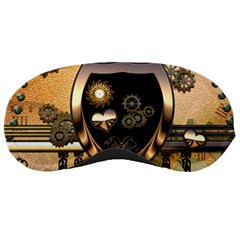 Steampunk, Shield With Hearts Sleeping Masks