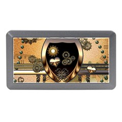 Steampunk, Shield With Hearts Memory Card Reader (mini)