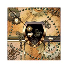 Steampunk, Shield With Hearts Acrylic Tangram Puzzle (6  x 6 )