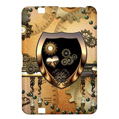 Steampunk, Shield With Hearts Kindle Fire HD 8.9