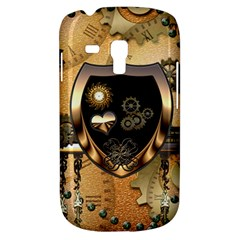 Steampunk, Shield With Hearts Samsung Galaxy S3 MINI I8190 Hardshell Case