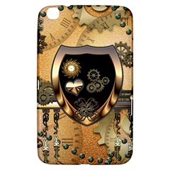 Steampunk, Shield With Hearts Samsung Galaxy Tab 3 (8 ) T3100 Hardshell Case
