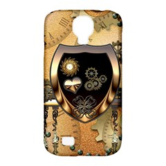 Steampunk, Shield With Hearts Samsung Galaxy S4 Classic Hardshell Case (PC+Silicone)