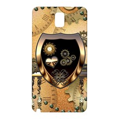 Steampunk, Shield With Hearts Samsung Galaxy Note 3 N9005 Hardshell Back Case