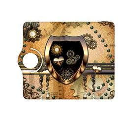 Steampunk, Shield With Hearts Kindle Fire HDX 8.9  Flip 360 Case