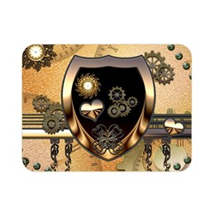 Steampunk, Shield With Hearts Double Sided Flano Blanket (Mini)