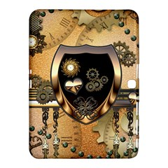 Steampunk, Shield With Hearts Samsung Galaxy Tab 4 (10 1 ) Hardshell Case