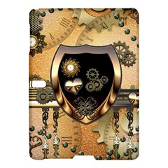 Steampunk, Shield With Hearts Samsung Galaxy Tab S (10 5 ) Hardshell Case