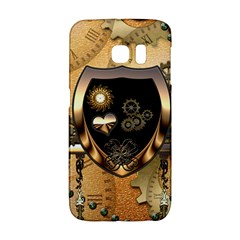 Steampunk, Shield With Hearts Galaxy S6 Edge