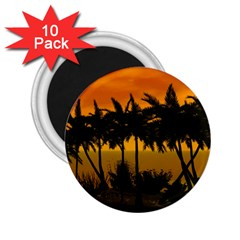 Sunset Over The Beach 2 25  Magnets (10 Pack)