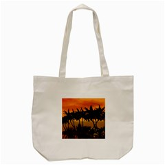 Sunset Over The Beach Tote Bag (Cream)
