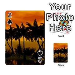 Sunset Over The Beach Playing Cards 54 Designs