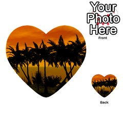 Sunset Over The Beach Multi Purpose Cards (heart)