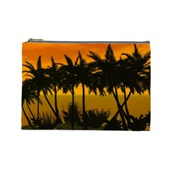 Sunset Over The Beach Cosmetic Bag (Large)