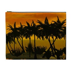 Sunset Over The Beach Cosmetic Bag (XL)