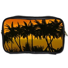 Sunset Over The Beach Toiletries Bags 2-Side