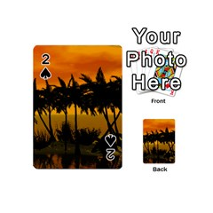 Sunset Over The Beach Playing Cards 54 (mini)
