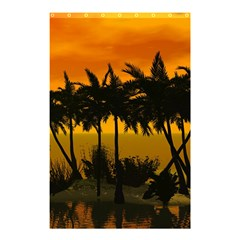 Sunset Over The Beach Shower Curtain 48  X 72  (small)