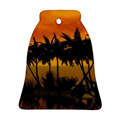 Sunset Over The Beach Bell Ornament (2 Sides)