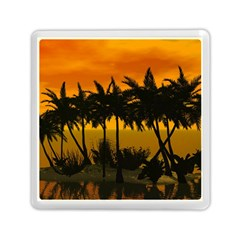 Sunset Over The Beach Memory Card Reader (Square)