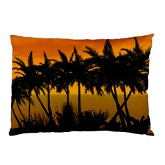 Sunset Over The Beach Pillow Cases (Two Sides)