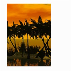 Sunset Over The Beach Large Garden Flag (Two Sides)