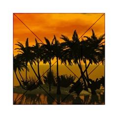 Sunset Over The Beach Acrylic Tangram Puzzle (6  x 6 )