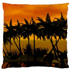 Sunset Over The Beach Large Cushion Cases (One Side)