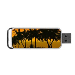 Sunset Over The Beach Portable USB Flash (Two Sides)