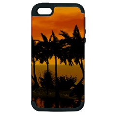 Sunset Over The Beach Apple iPhone 5 Hardshell Case (PC+Silicone)