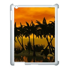 Sunset Over The Beach Apple iPad 3/4 Case (White)