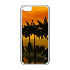 Sunset Over The Beach Apple iPhone 5C Seamless Case (White)