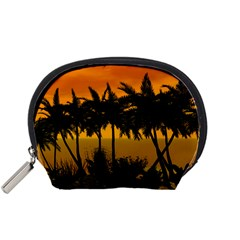 Sunset Over The Beach Accessory Pouches (Small)