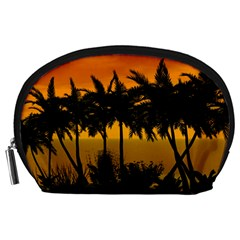 Sunset Over The Beach Accessory Pouches (Large)