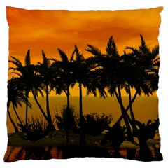 Sunset Over The Beach Standard Flano Cushion Cases (Two Sides)