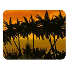 Sunset Over The Beach Double Sided Flano Blanket (Large)